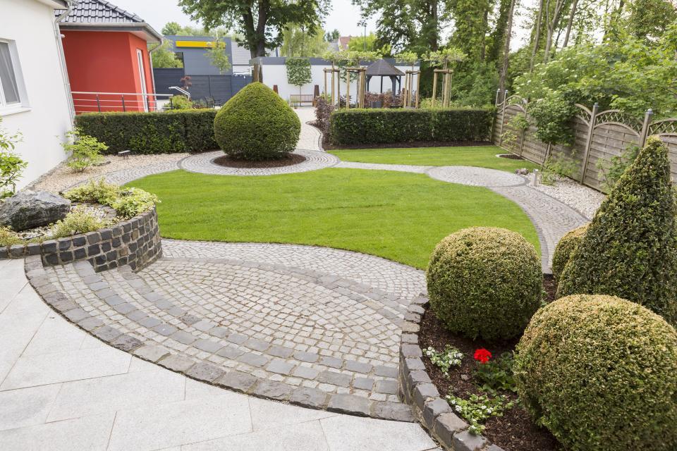 Blick zum Gartenrundgang